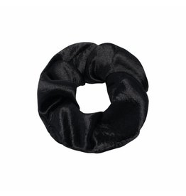 Satin scrunchie - Zwart