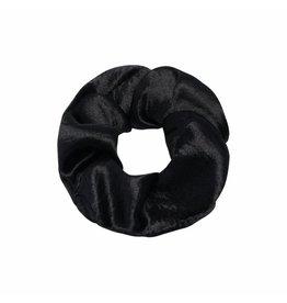 Satin scrunchie - Zwart