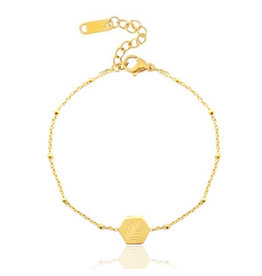 Armband - Gold leaf