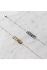 Armband - Gold leopard bar