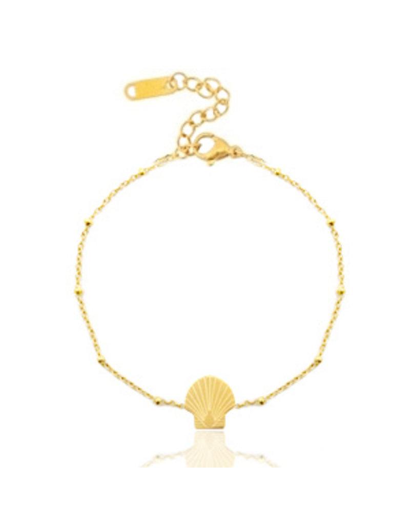 armband - gold shell