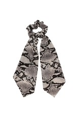 Scarf scrunchie - Grey snake