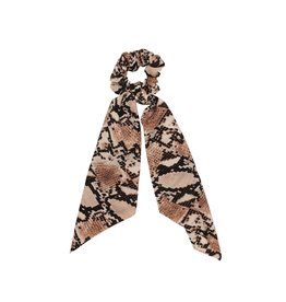 Scarf scrunchie - Brown snake