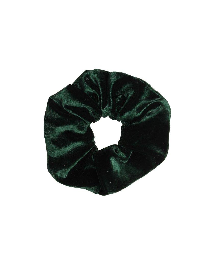 Velvet scrunchie - Donker groen