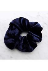 Velvet scrunchie - Deep blue