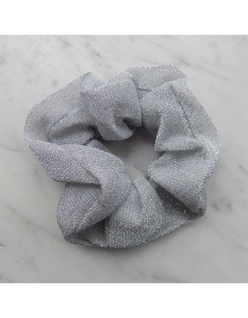Glitter scrunchie - Zilver