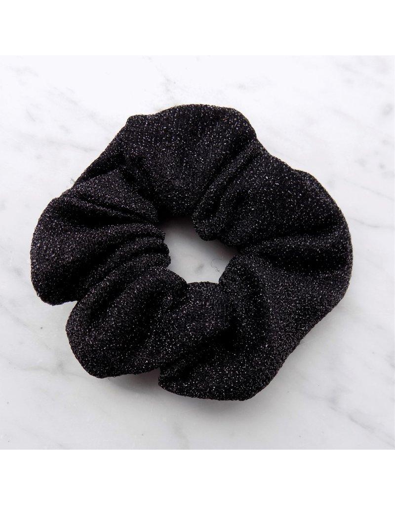 Glitter scrunchie - Zwart