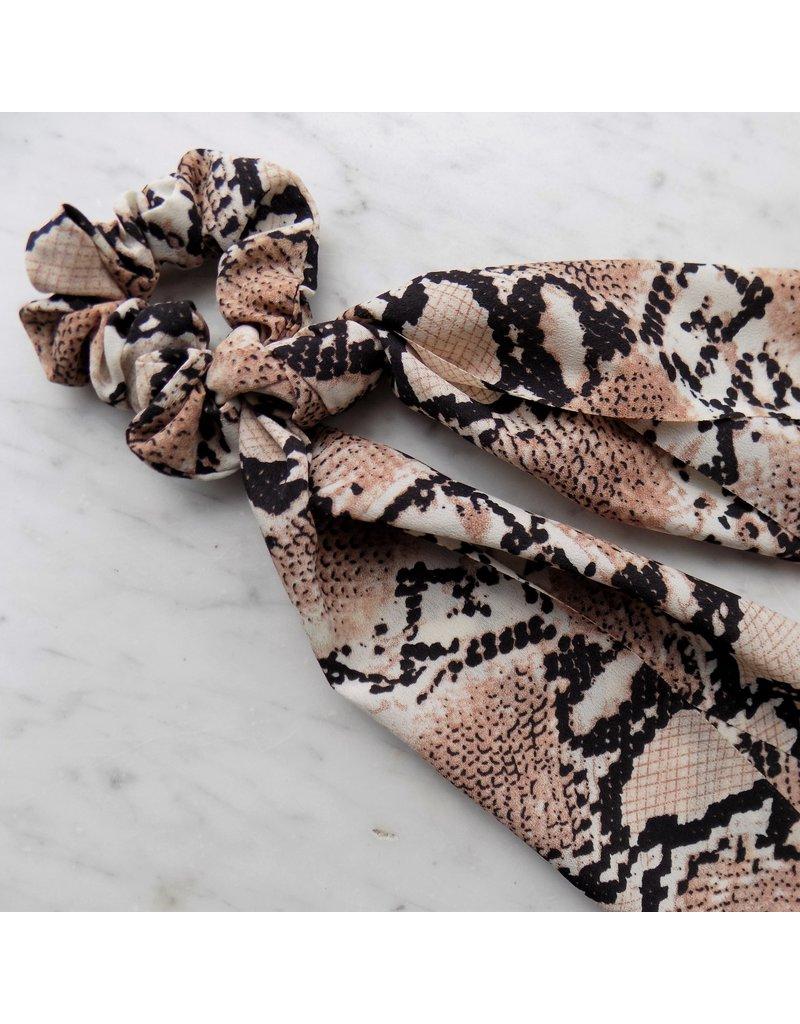 Scarf scrunchie - Brown snake