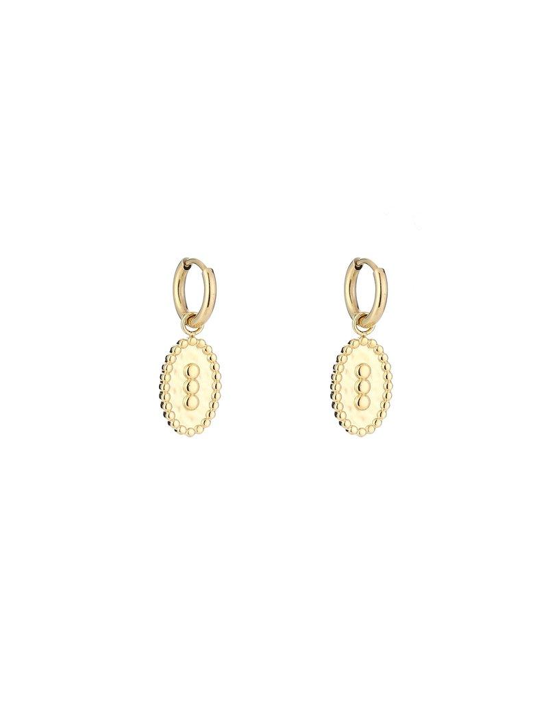 Oorbel - Gold dots