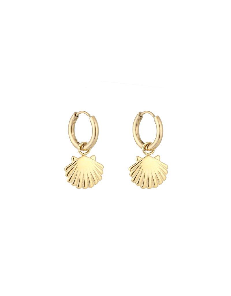 Oorbellen - Gold shell