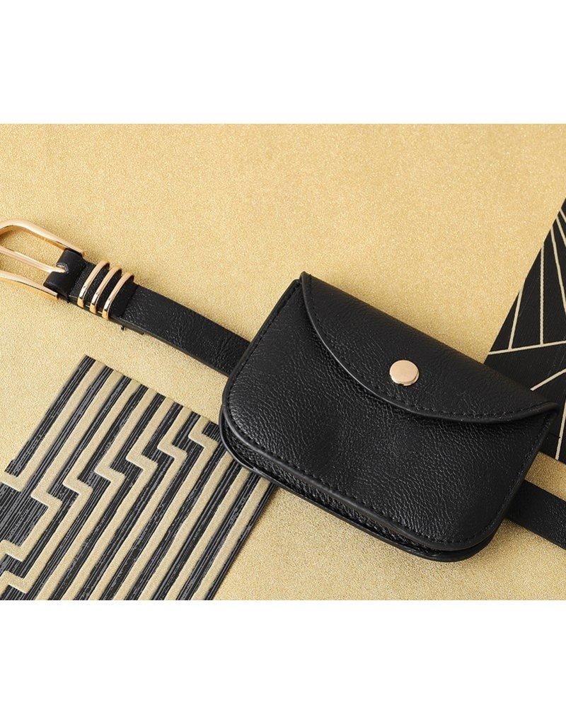 Zwarte riem & mini tasje