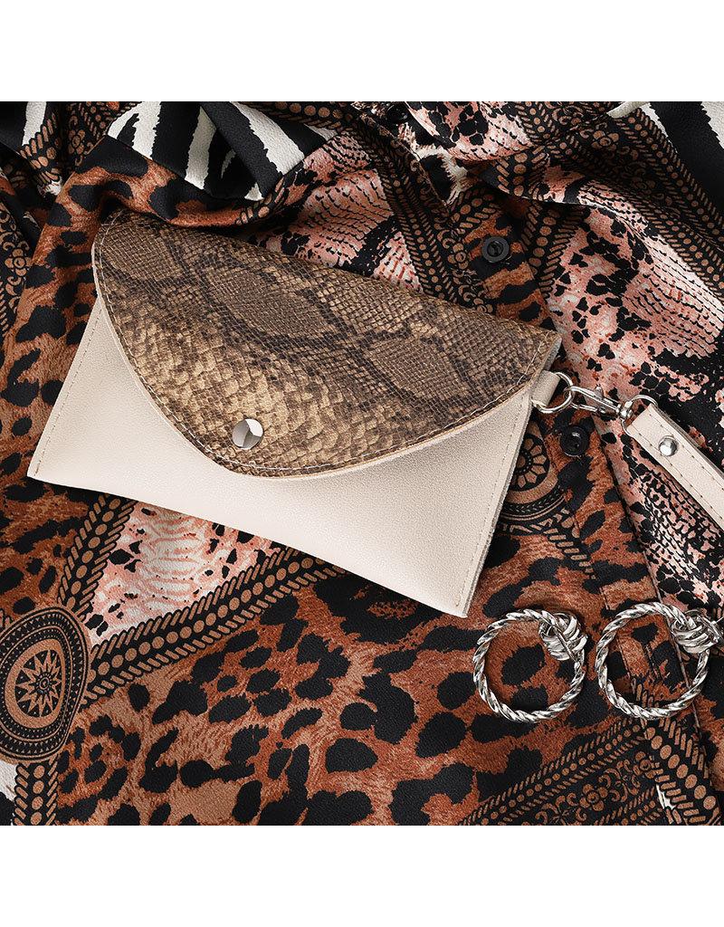 Belt bag - Beige snake