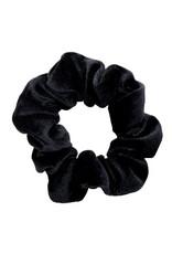 Velvet scrunchie - Zwart