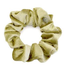 Velvet scrunchie - Olijfgroen