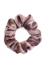 Velvet scrunchie - Taupe