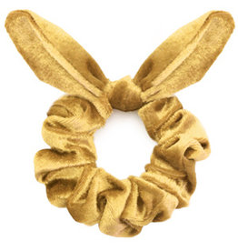 Strik scrunchie - Yellow gold
