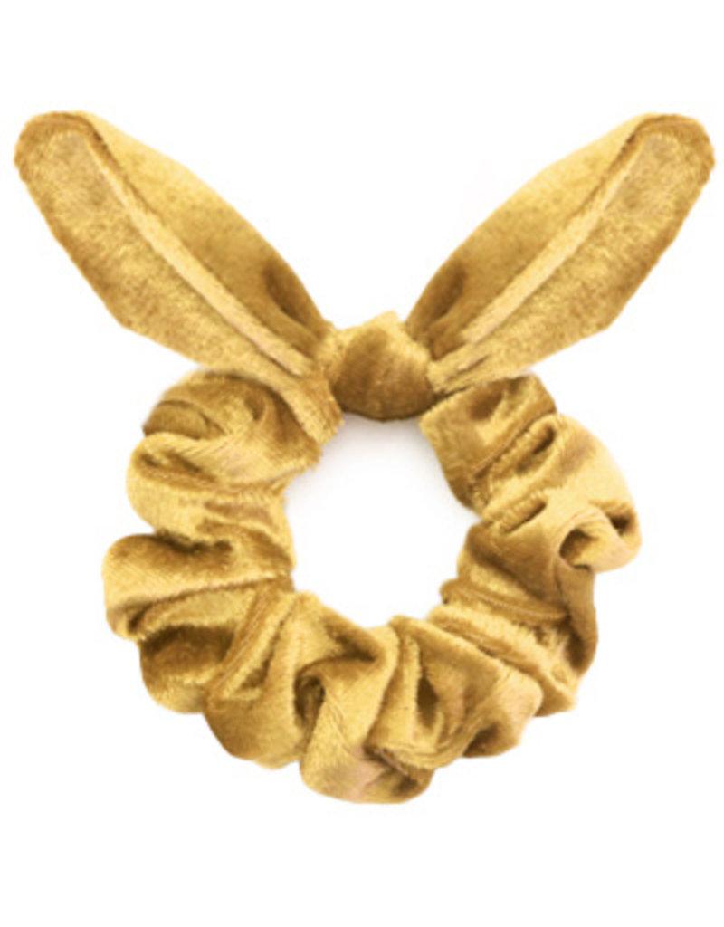 Strik scrunchie - Yellow gold
