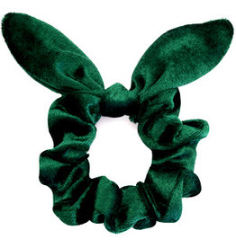 Strik scrunchie - Groen