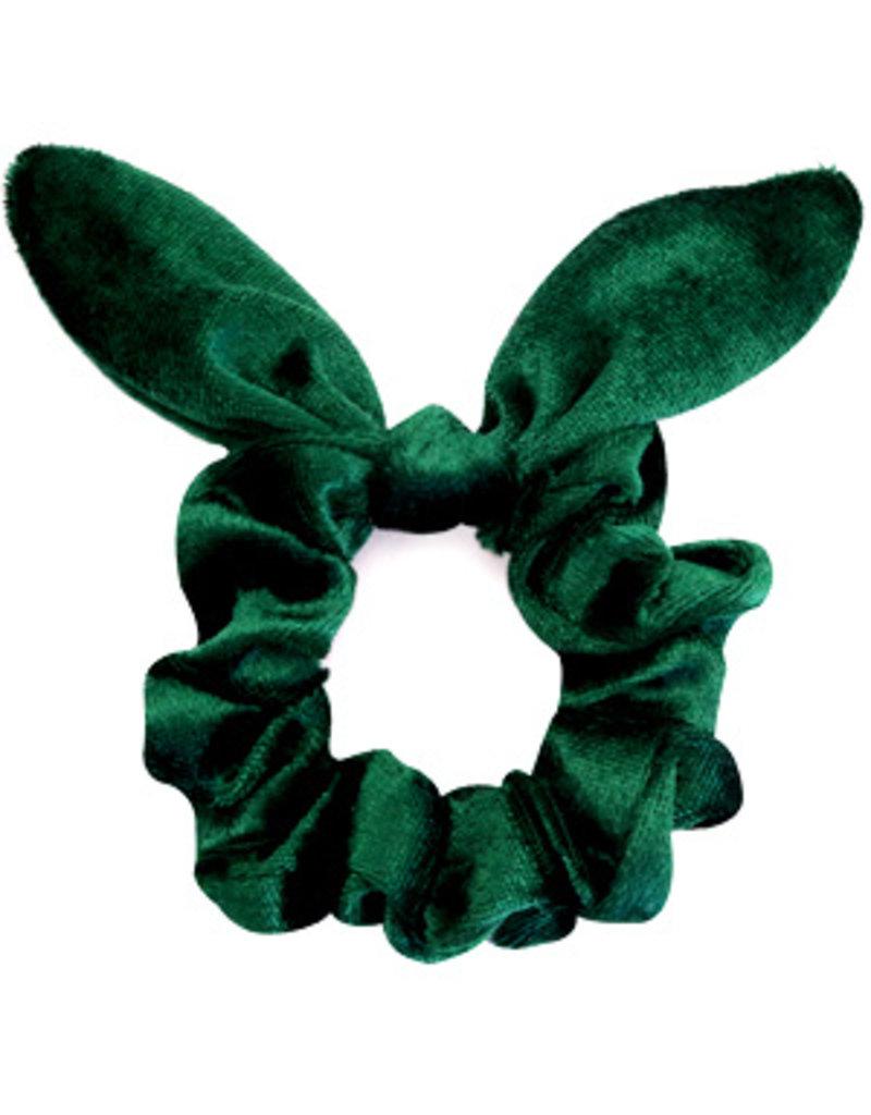 Strik scrunchie - Groen