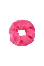 Satin scrunchie - Neon roze
