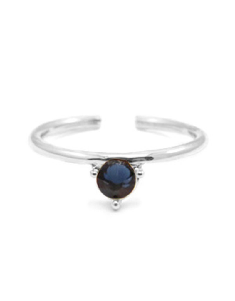 Ring - Blue stone (silver)