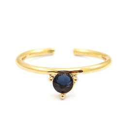 Ring - Blue stone (goud)