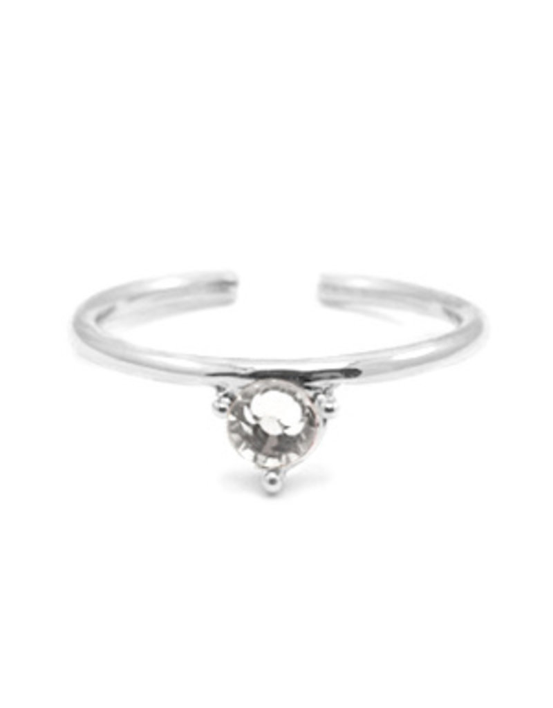 Ring - Clear stone (silver)
