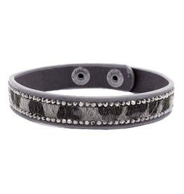 Armband - Grey leopard