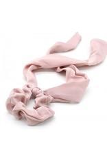 Scarf scrunchie - Pink satin