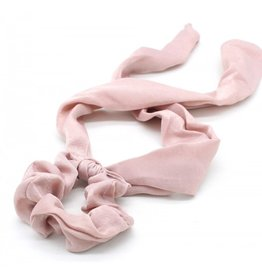 Scarf scrunchie - Pink satin