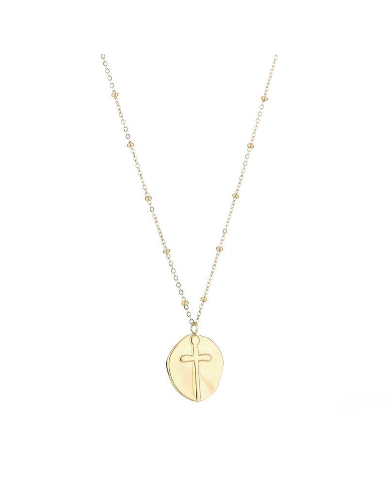 Ketting - Gold cross