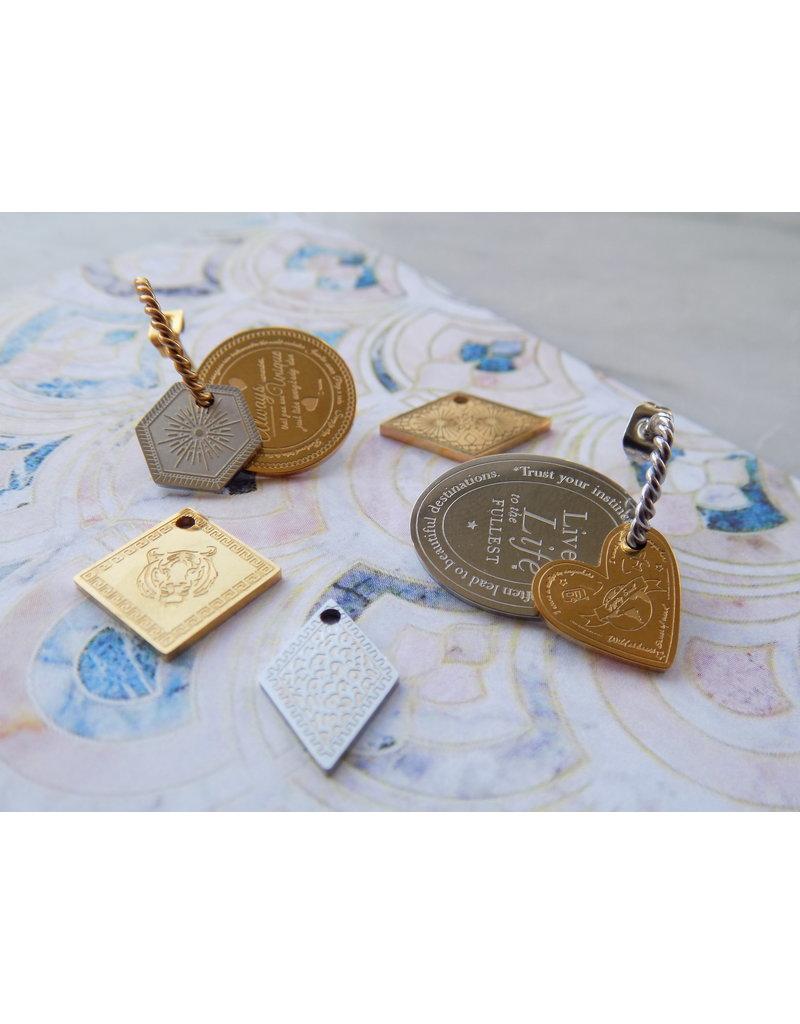 Zilveren creool (1 cm)