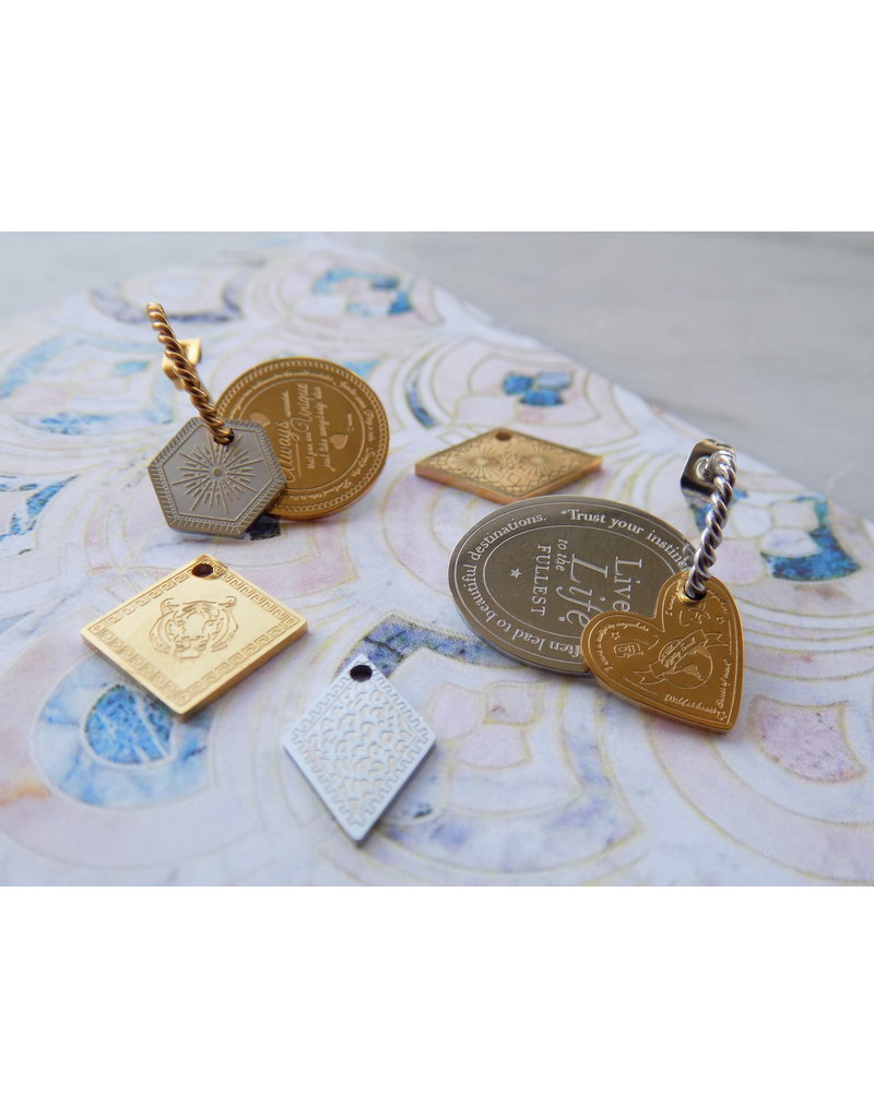 Charm - Unique (zilver)