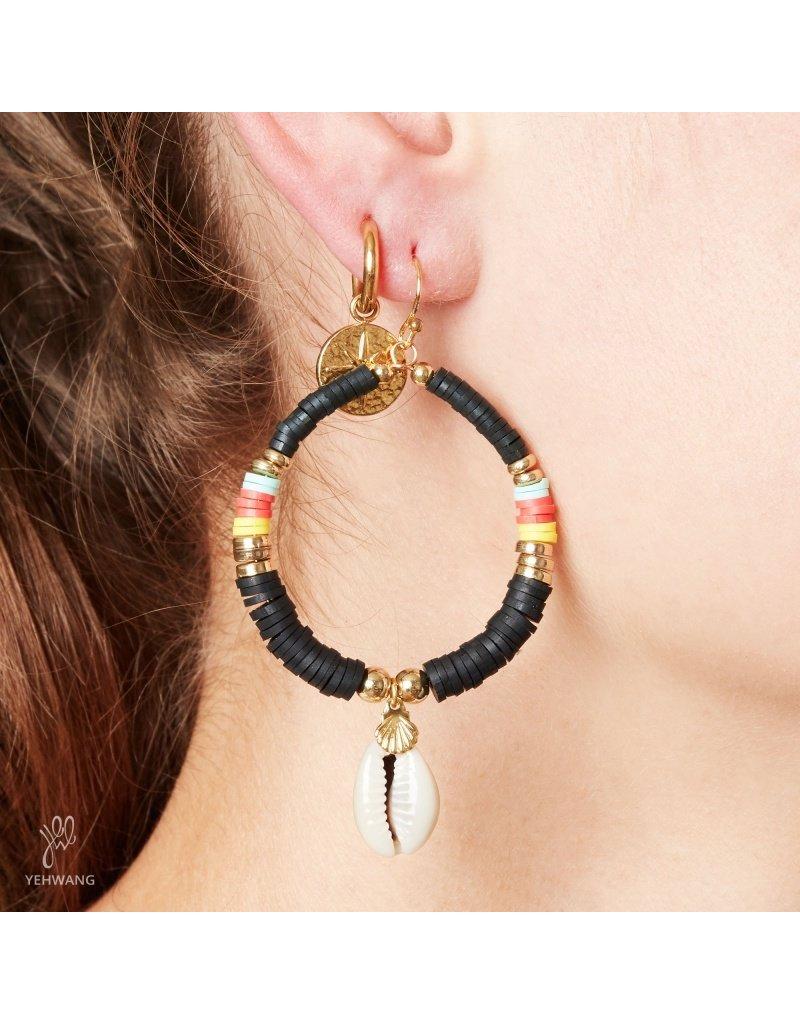 Surf oorbellen - Zwart