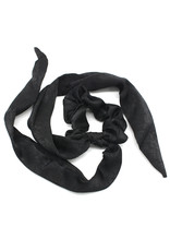 Scarf scrunchie - Black satin