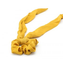 Scarf scrunchie - Yellow satin