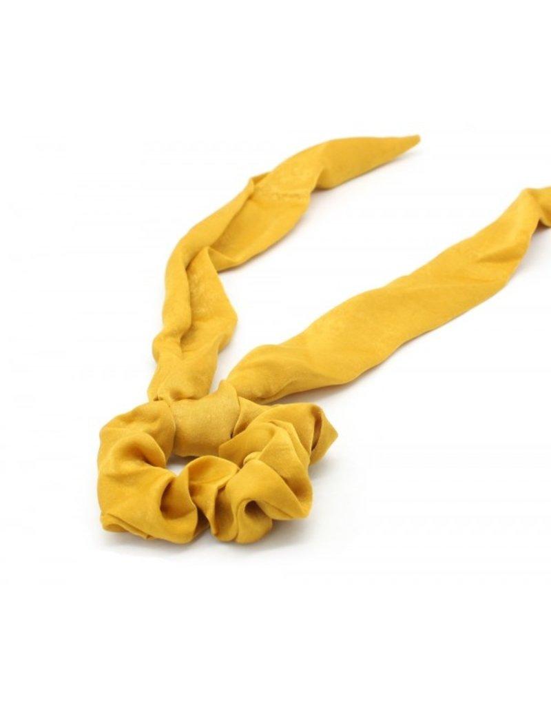 Scarf scrunchie - Yellow satin