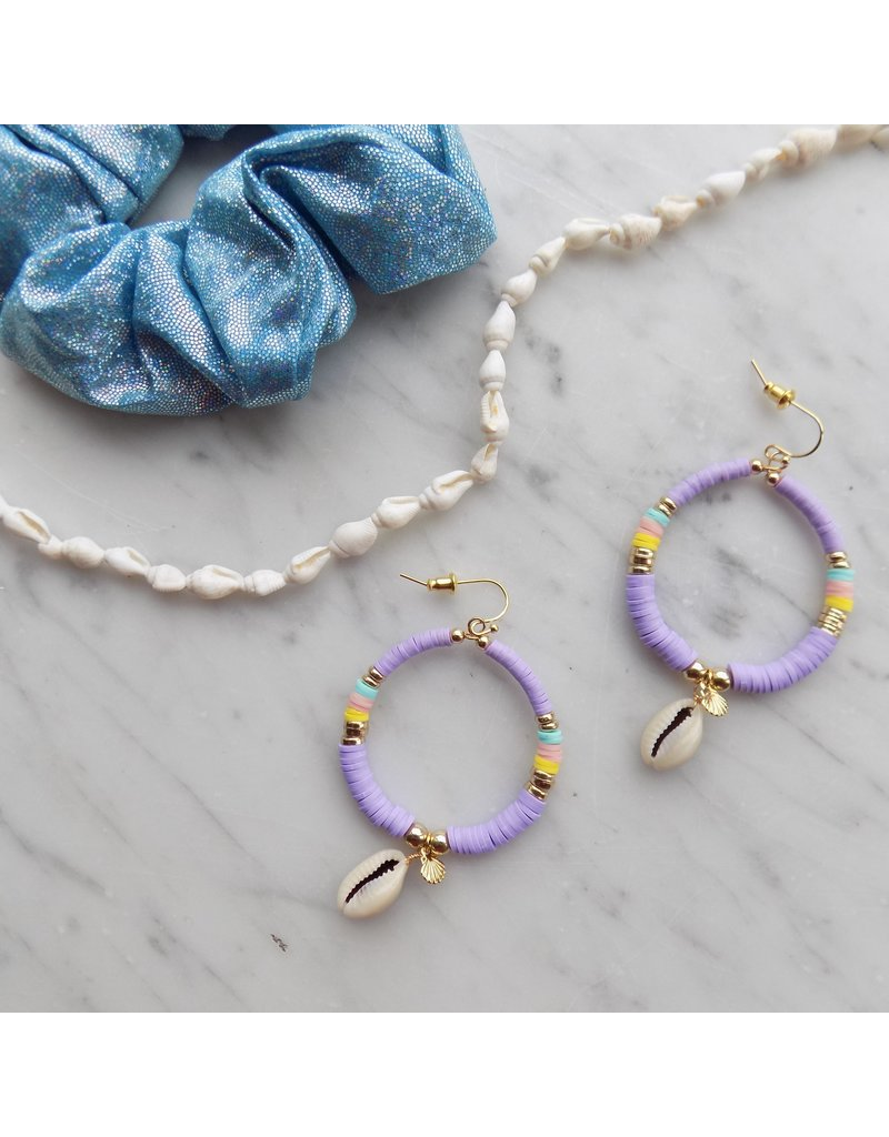 Surf oorbellen - Lilac