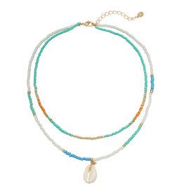Ketting - Blue summer beads