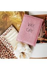 Paspoort hoesje - Pink glitter