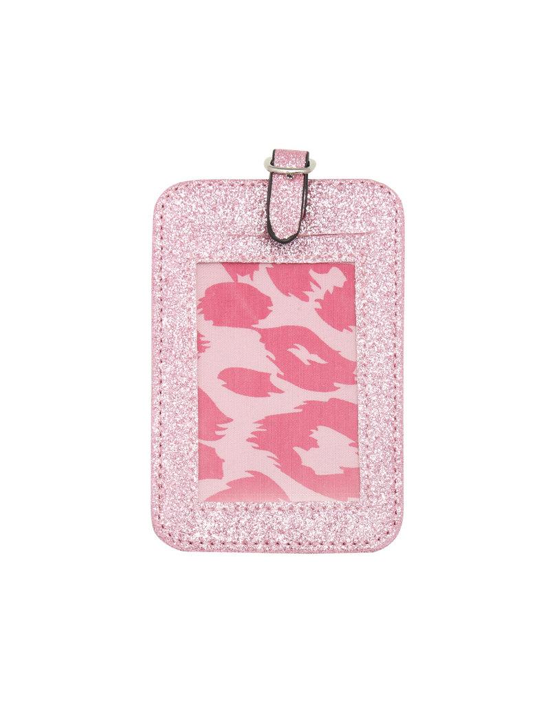 Koffer label - Pink glitter