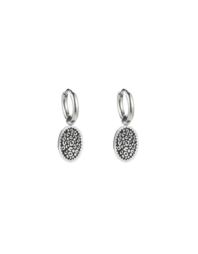 Oorbellen - Silver leo spots