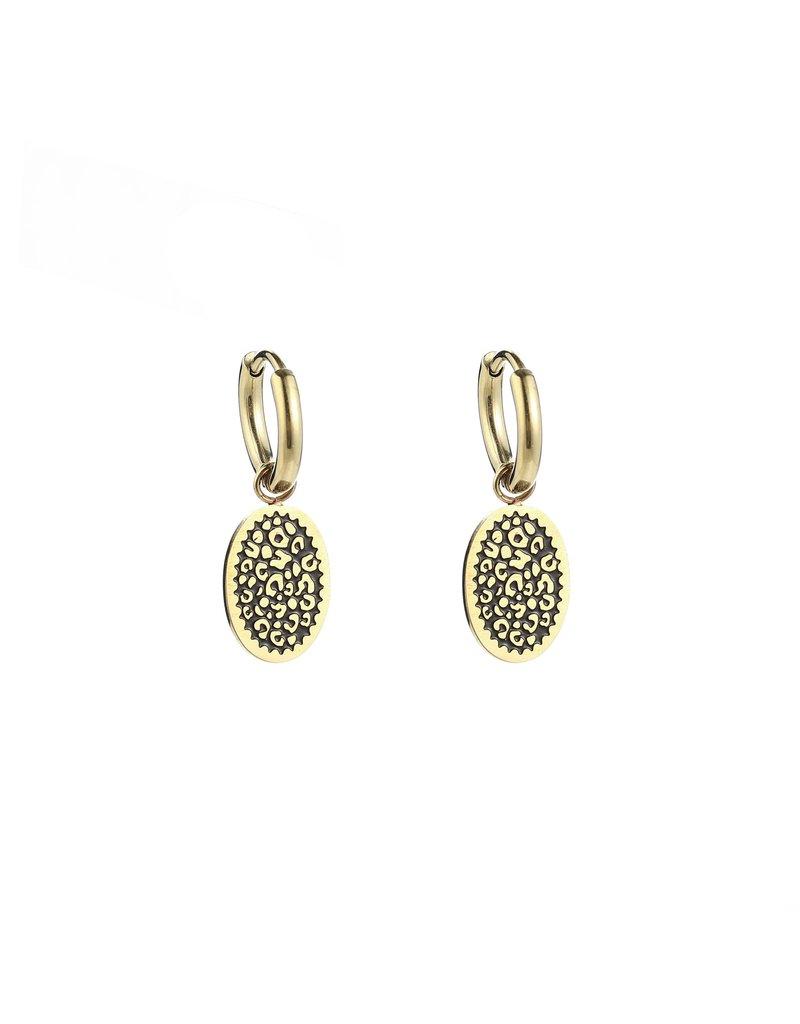 Oorbellen - Gold leo spots