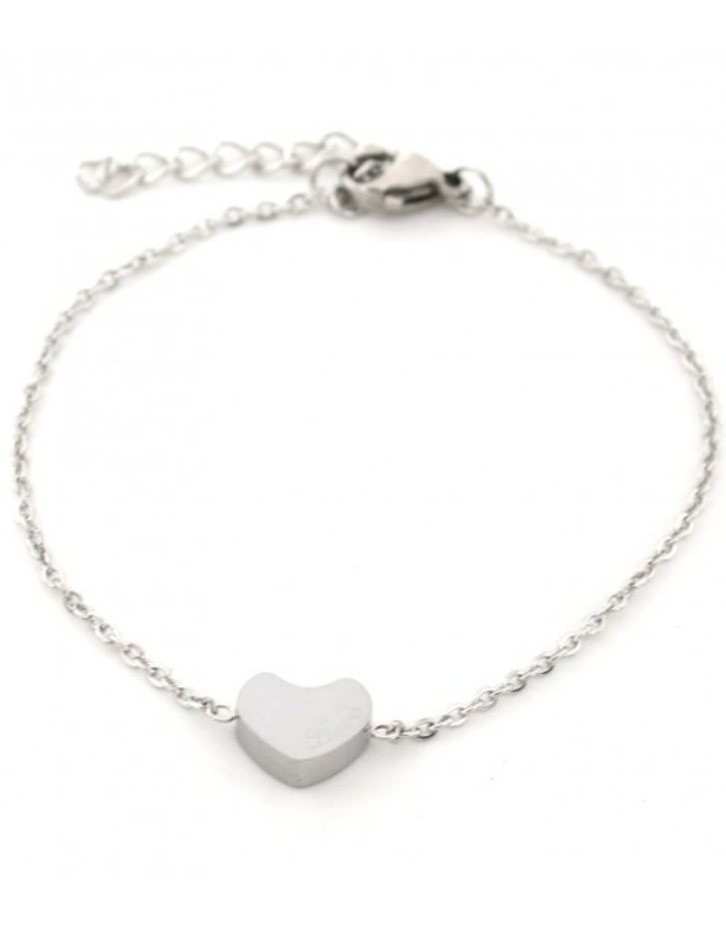 Armband - Zilver hartje