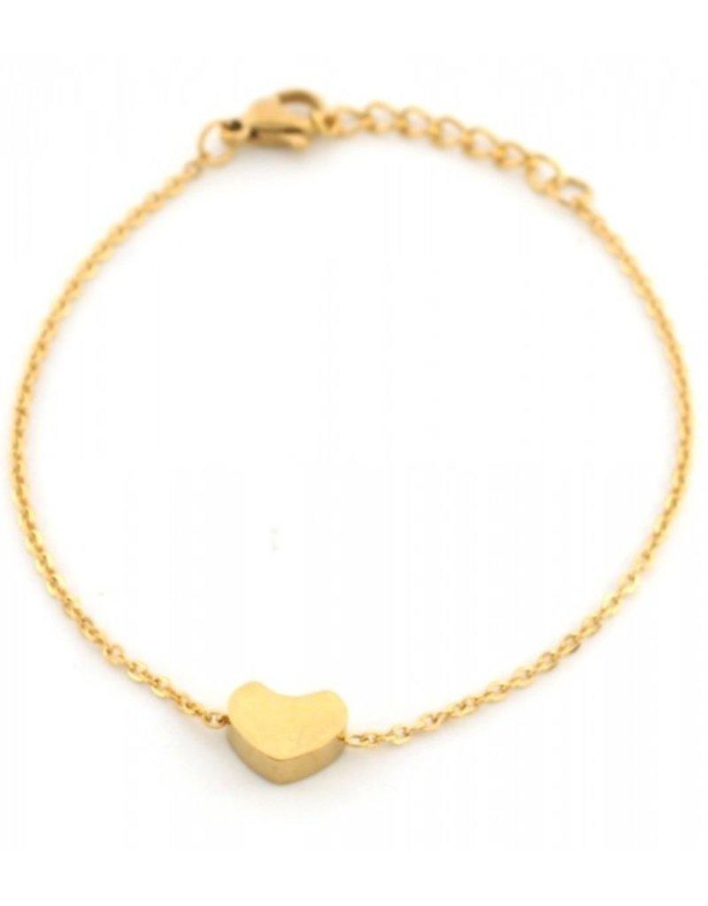 Armband - Goud hartje