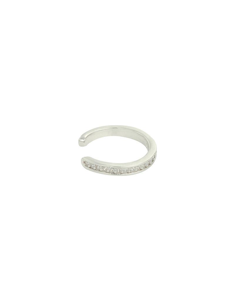 Earcuff - Silver stones
