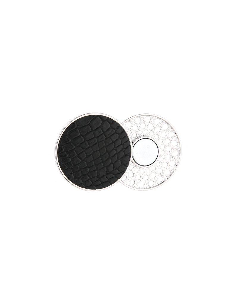Sjaal magneet - Black croco