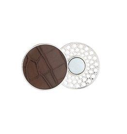 Sjaal magneet - Brown croco