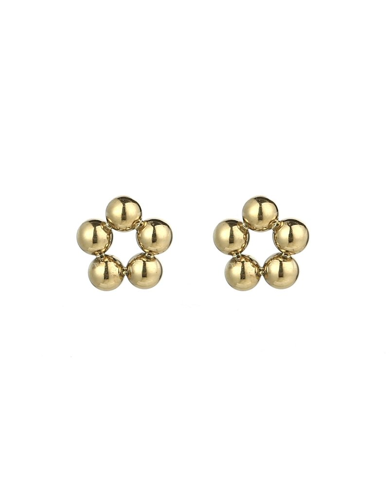 Bolletjes oorbellen - Gold circle