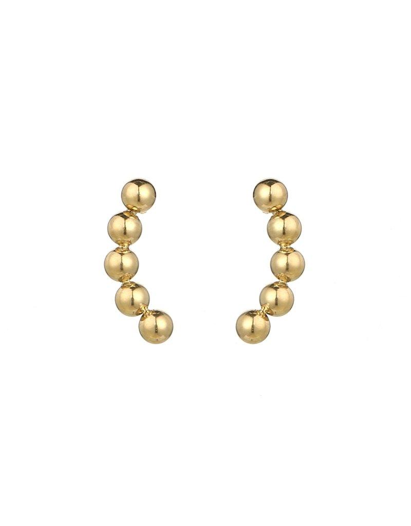 Bolletjes oorbellen - Gold line